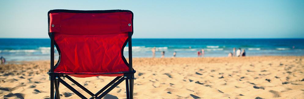 Beach and beach chair